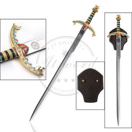 "China Zweischneidiges mittelalterliches Longsword 45"" authentisches Metall Richard Lionheart usine"